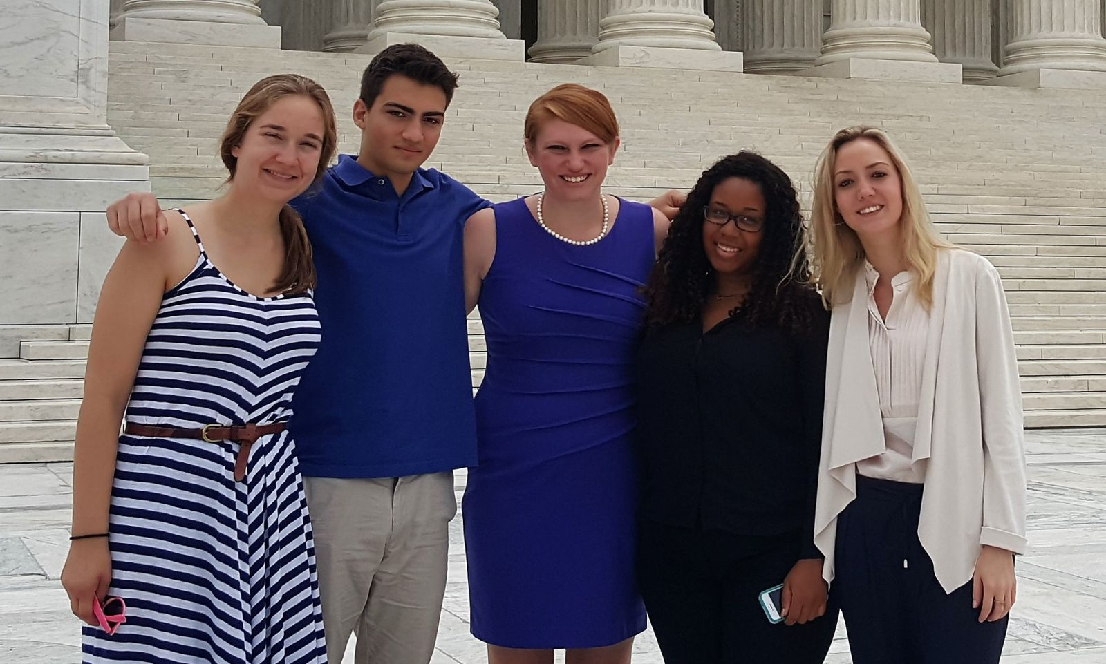 CCE interns after touring the U.S. Supreme Court