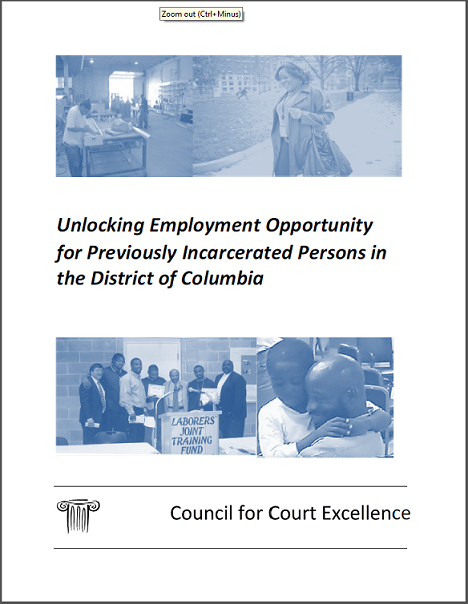 Unlocking Employment Opportunity for Previously Incarcerated Persons in the District of Columbia